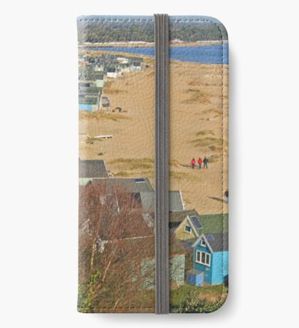 Mudeford Spit on Christmas Day iPhone Wallet