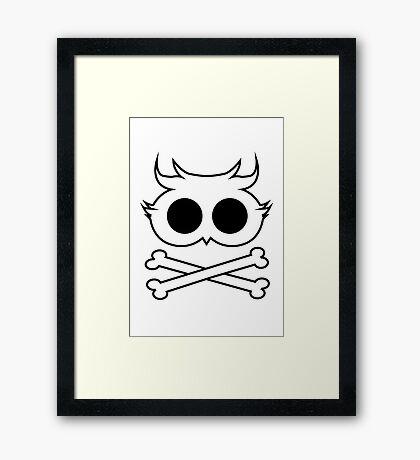 Owl Cross Bone Framed Print