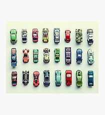 Toy Car Collection Photographic Print