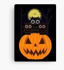 Jack O lantern & Owls Canvas Print