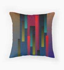 Vertical Rectangular Blends Throw Pillow