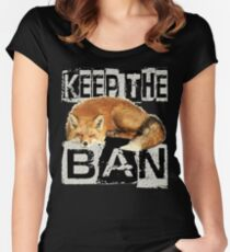 KEEP THE BAN 2 Women's Fitted Scoop T-Shirt