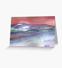 Winter Scene Upstate NY Watercolor Greeting Card