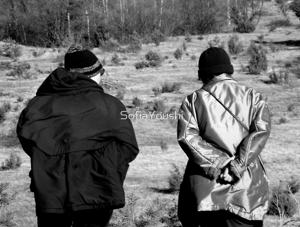 FRIENDS WALKING  by SofiaYoushi