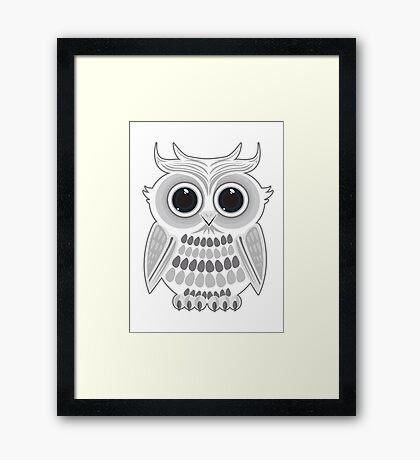 White Owl Framed Print