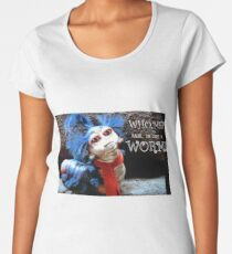 """The Labyrinth Worm Quote """"who, me? Nahh, im just a worm"""" Women's Premium T-Shirt"""