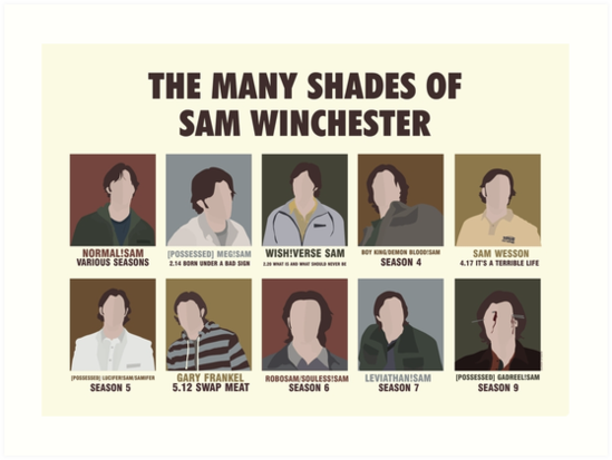 The Many Shades of Sam Winchester by madhatters