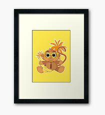Monkey Nerd - Yellow Framed Print