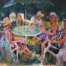 Garden Party - Ladies In Hats by Ballet Dance-Artist
