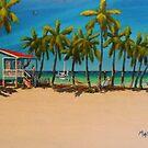 Caye Caulker Beach house, Belize CA by Matthew Campbell