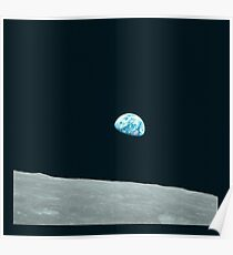 Apollo Archive 0004 Earth Rise Earthrise over Moon Poster