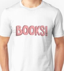 Books! in Pink T-Shirt