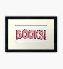 Books! in Pink Framed Print