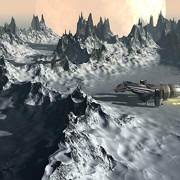 Alien Ice Planet Twilight by fotokatt