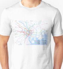 Tokyo subway metro map Unisex T-Shirt