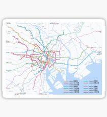 Tokyo subway metro map Sticker