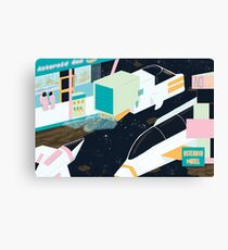 Asteroid Motel Canvas Print