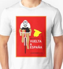 VUELTA A ESPANA: Bicycle Racing Advertising Print Unisex T-Shirt