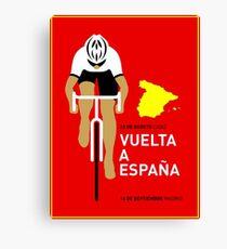 VUELTA A ESPANA: Bicycle Racing Advertising Print Canvas Print