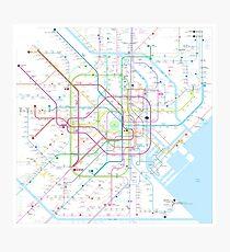 Tokyo subway metro map Photographic Print