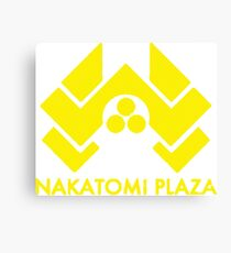 A distressed version of the Nakatomi Plaza symbol  Canvas Print