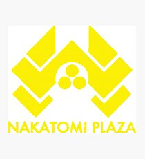 A distressed version of the Nakatomi Plaza symbol  Photographic Print