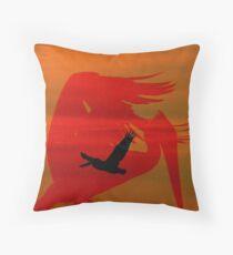 abstract pelican Throw Pillow