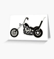 Cruiser Motorbike Greeting Card