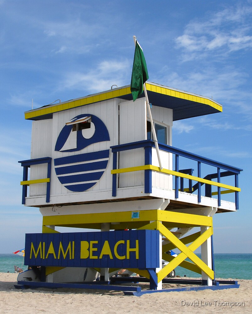 """Miami Beach Life Guard Stand"" by David Lee Thompson"