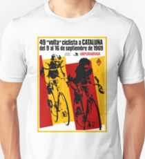 VOLTA CICLISTA CATALUNA: Vintage Bike Race Advertising Print Unisex T-Shirt