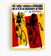 VOLTA CICLISTA CATALUNA: Vintage Bike Race Advertising Print Canvas Print
