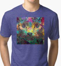 Catnip Color Perception (Electric Catnip) Tri-blend T-Shirt