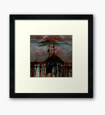 Premonitions along the road to Ghost Mountain - Panel 2 Framed Print