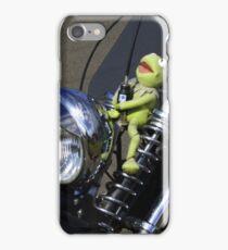Kermit  ...  the green motorbike iPhone Case/Skin
