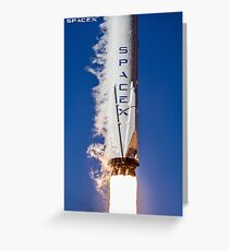 SpaceX Falcon 9 Liftoff Greeting Card