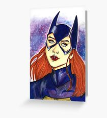 Super hero ink portrait. Greeting Card