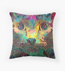 Catnip Color Perception (Electric Catnip) Throw Pillow