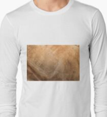 Old paper texture with aged blots Long Sleeve T-Shirt