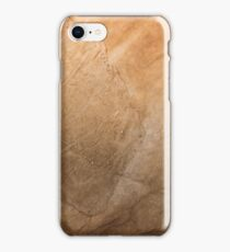 Old paper texture with aged blots iPhone Case/Skin
