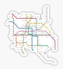 mexico city subway metro map Sticker