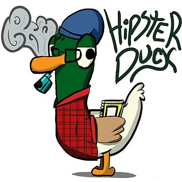 Henry the Hipster Duck by PippyThePirate