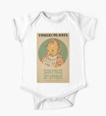 WPA United States Government Work Project Administration Poster 0671 Don't Kiss Me Tuberculosis Your Kiss of Affection the Germ of Infection One Piece - Short Sleeve