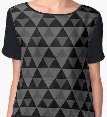 Tri-Pattern Chiffon Top