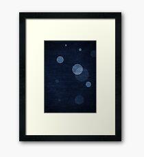 Denim Moon Framed Print