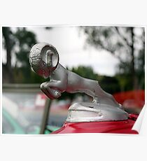 Old ram car hood ornament Poster