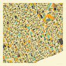 DETROIT MAP by JazzberryBlue