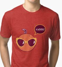Yas Orange Tri-blend T-Shirt