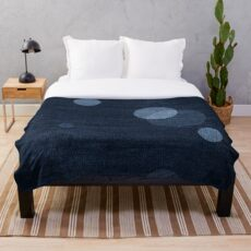 Denim Moon Throw Blanket