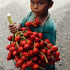 Taking his Fruits to the Market. by Mart Delvalle