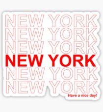 New York - Schönen Tag noch Sticker